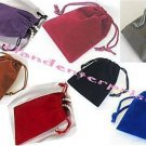 "Jewelry Pouches Velour-Velvet type Pouches 1 of each X 7 Colors ~ 3"" x 4"" ~ = 7"