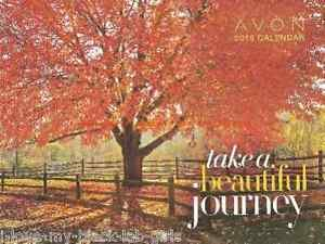 "Avon 2016 12-Month Calendar Collectible ""Take A Beautiful Journey""  NEW"