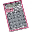 Office Bejeweled Calculator ~ Pink Desktop Hand Held Calculator ~ New In Box
