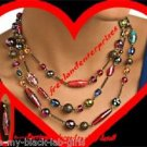 "Necklace, Earring Beaded Multi-color Gift Set 16"" long ~ NEW ~"