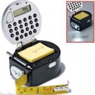 Multi-Tool 5-in-1 Multi Function Tape Measure Light-Up Black & Grey ~NEW~