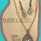 Necklace, Earring Blissful Blues Drop Pendant Gift Set-Pierced Earrings NEW