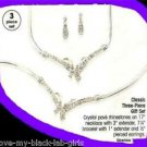 Necklace, Bracelet & Earring Classic 3-Piece Gift Set SILVERTONE