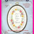 CRAFTS JOY IS LOVE WHEN IT'S SHARED Crewel Stitch Dimensions Kit # 7541