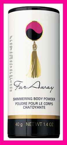 Womens Fragrance Shimmering FAR AWAY Body Powder Talc 1.4 oz NEW (Quantity of 2)