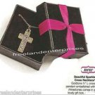 """Necklace Beautiful Sparkle Cross Pendant 16 1/2"""" ~Goldtone~ NEW Avon in Gift Box"""