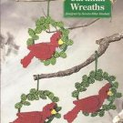 CRAFTS Needlecraft Shop Christmas Trimmings Cardinal Wreath Ornament Kit #410026