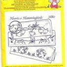 CRAFTS Aunt Martha's Hot Iron Transfers #3880 Hearts & Hummingbirds