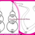 Necklace Earring Addison CZ Double Strand Necklace & Drop Earrings Gift Set