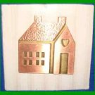 Christmas PIN #0187 Hallmark Where The Heart Is House Copper/Brass Lapel Pin NEW
