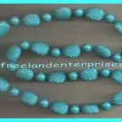 Necklace Color Shapes Necklace ~Turquoise Beads ~ NEW Old Stock Avon Boxed