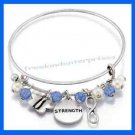 Empowerment Charm Bracelet ~ Blue & Silvertone ~ NEW Boxed~Great Gift~ Speak Out
