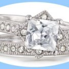 Ring This Is Love CZ Engagement Ring and Band Set -Size 8- NEW Boxed ~Great Gift