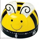 Kitchen Timer Spring Bumble Bee Design 60 Minute Timer (Yellow-Black-White-Qnt 2