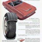 1965 Kelly Tire Print Ad-Futuristic Car Red Convertible