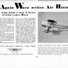1935 Waco Aircraft Vintage Print Ad-Troy Ohio Airplane
