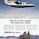 1970 Mitsubishi MU-2G Speed Merchant Aircraft Airplane Print Ad