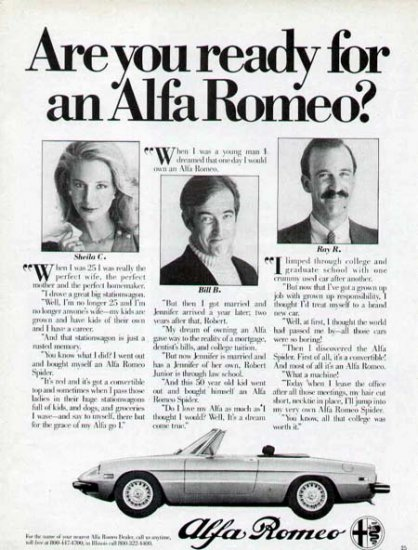 1980 Alfa Romeo Sports Car Vintage Print Ad