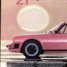 1983 Porsche 911SC Cabriolet Vintage Car Print Ad-Red
