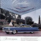 1960 Cadillac Vintage Car Print Ad-Blue Color