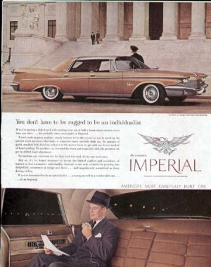 1960 Chrysler Imperial Vintage Car Print Ad-Le Baron Southampton