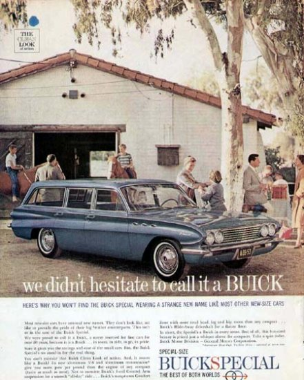 1961 Buick Special Station Wagon Vintage Car Print Ad
