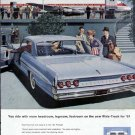 1961 Pontiac Bonneville Vista Vintage Car Print Ad-Baby Blue