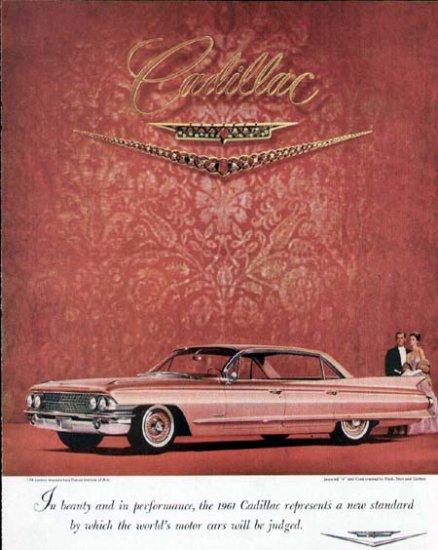 1961 Cadillac Vintage Car Print Ad-Pink Color