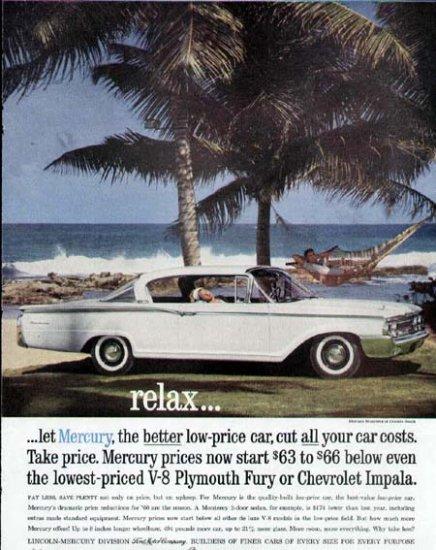 1960 Mercury Monterey Car Print Ad-Dorado Beach