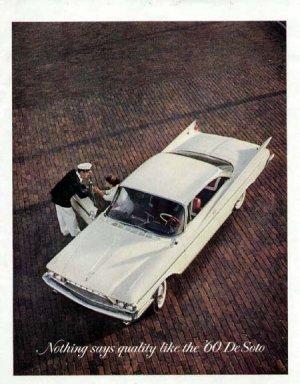 1960 De Soto Vintage Car Print Ad-White Color