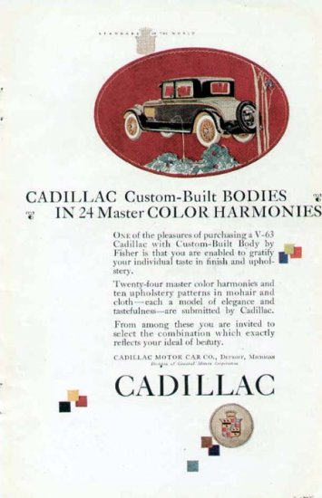1925 Cadillac Vintage Car Print Ad-Available in 24 Colors