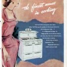 1952 Wedgewood Gas Cook Range Print Ad-In Color