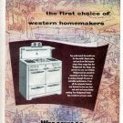 1952 Wedgewood Gas Cook Range Print Ad-In Color