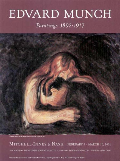 2001 Mitchell-Innes Nash Gallery Ad-Edvard Munch Vampire Art