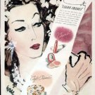 1943 Coty Cosmetics Make-Up Print Ad-Salon Shades Cafe Creme