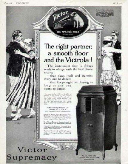 1917 Victor Victrola XVII Phonograph Print Ad-Vintage Dancing