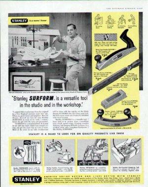 1959 Stanley Tool Print Ad-Stevan Dohanos Artist in the Workshop