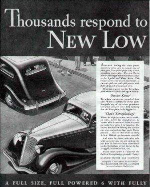 1934 Terraplane Vintage Car Print Ad-Challenger Model Hudson