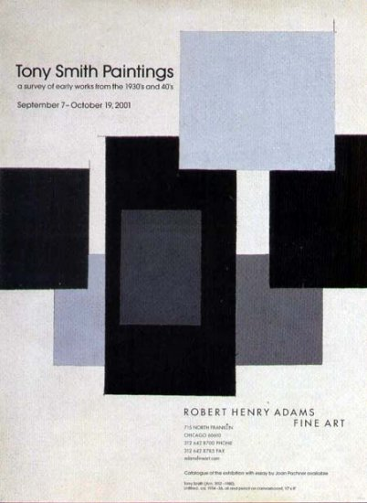 2001 Robert Henry Adams Gallery Print Ad-Tony Smith Art Artist