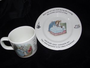 Wedgwood Peter Rabbit Cup & Plate Story Made England