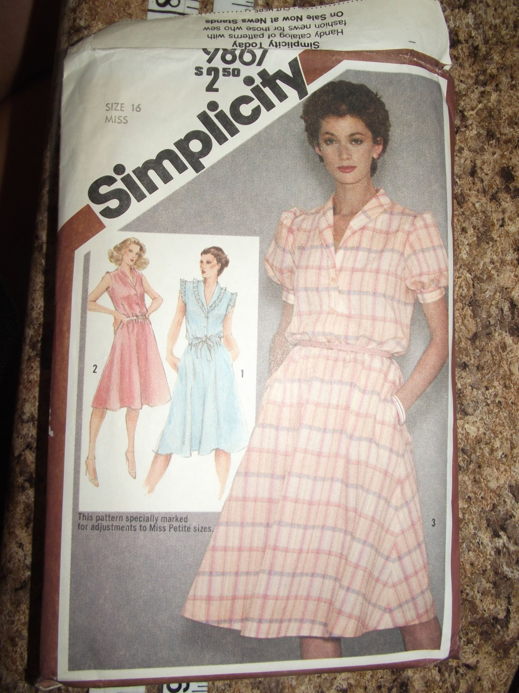 Vintage Simplicity pattern 9867 SZ 16 Uncut from 1980