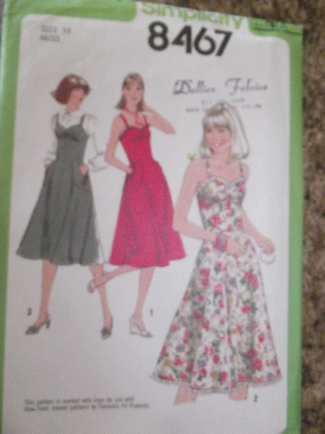 Vintage Simplicity pattern 8467 SZ 14 Uncut from 1978