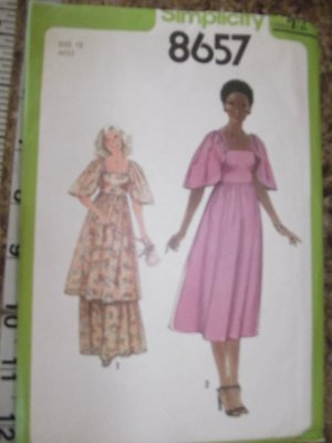 Vintage Simplicity 8657 size 12 1978