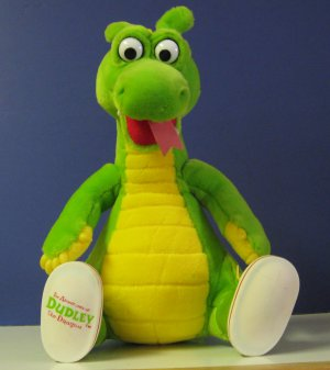 "Adventures of Dudley Dragon Plush Doll - 12"" - 1994 - Dragon Tales Productions"