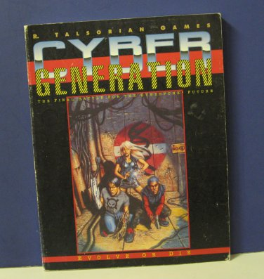 Cyberpunk CP3251 Cyber Generation Supplement Book Talsorian Games 1993 RPG