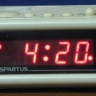 Spartus Digital Red LED Alarm Clock 1147 - White