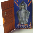 Futurama Bender Wind Up Robot Tin Action Figure - 2000 - Rocket USA