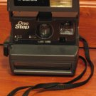 Polaroid One Step 600 Instant Land Camera with Zoom - Black 1980s Vintage
