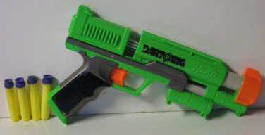 Nerf Dart Tag Stormfire Soft Dart Gun Single Shot Blaster Green With 4 Darts