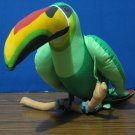 "Angelitos Plush Hanging Green Toucan 19"" 1980s Vintage"